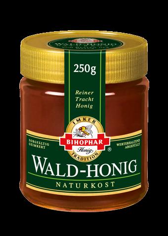 Waldhonig – Honigtauhonig im 250-Gramm-Honigglas