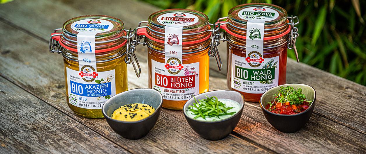 Salsa, Dip und Sauce mit BIHOPHAR Bio Wald-, Blüten-, und Akazienhonig
