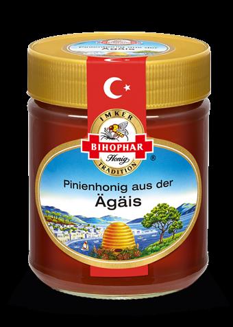 Glas Länderhonig: Geschmack türkischer Pinienhaine