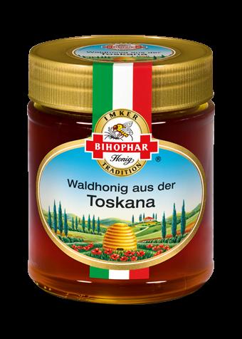 Glas Länderhonig: Geschmack toskanischer Wälder