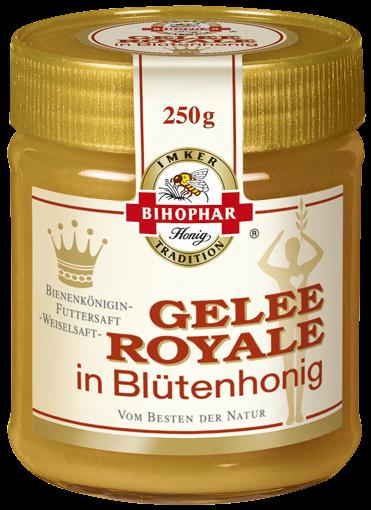 250-Gramm-Glas Gelée Royale in ausgewähltem Blütenhonig stabilisiert