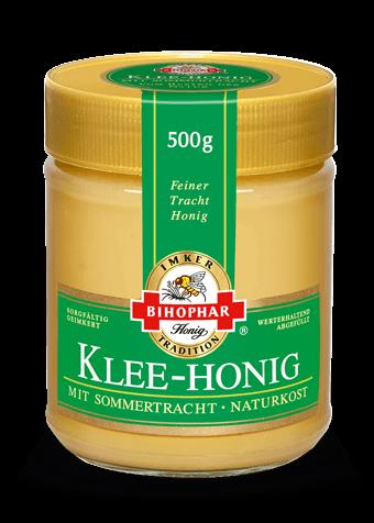 Kleehonig: seltene Milde im Honigglas
