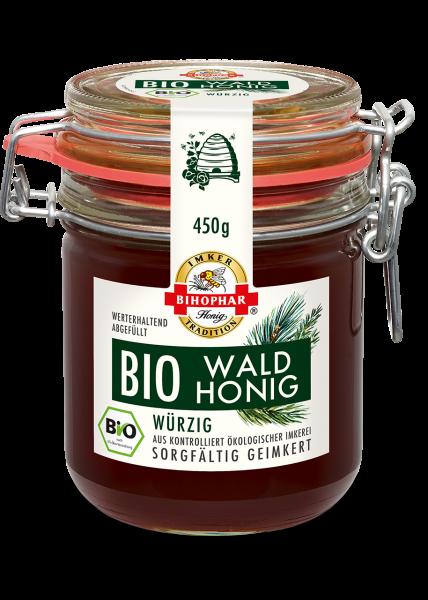Bügelglas mit würzigem Bio-Waldhonig