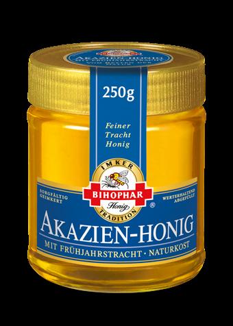 Akazienhonig als Frühtrachthonig im 250-Gramm-Honigglas