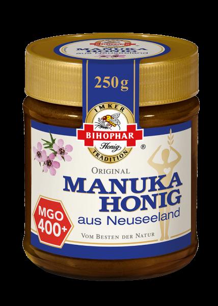 Glas Manuka-Honig, gewonnen aus der Seemyrte