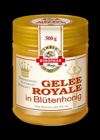 Glas Gelée Royale in ausgewähltem Blütenhonig stabilisiert